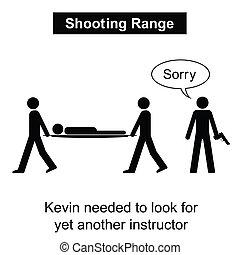 範囲, 射撃