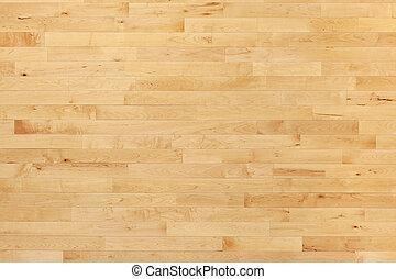 篮球场, 地板, 硬木, 在上面, 察看