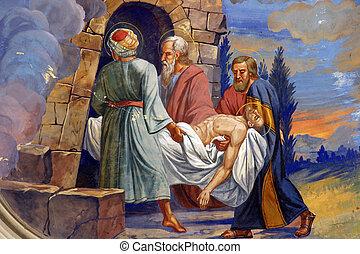 簀の目紙, 墓, イエス・キリスト