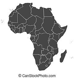 簡単にされている, 政治的である, アフリカ, 地図