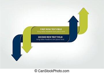 簡單地, 箭, infographics, 方案, 圖形, 圖表, flowchart., vector.