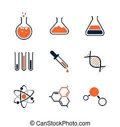 簡單, 化學, 集合, 矢量, 圖象