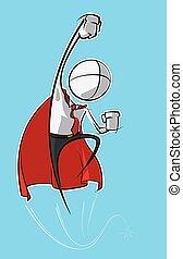 簡單, 商業界人士, -, superhero