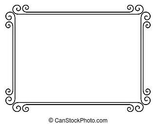 簡單, 裝飾, 裝飾, 框架