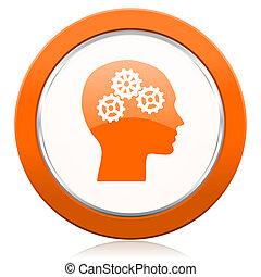 簽署, 頭, 橙, 圖象, 人類