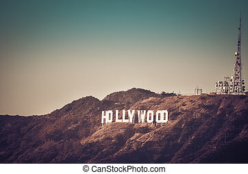 簽署, los, 好萊塢, angeles