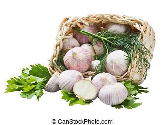 籃子, 白色, 大蒜, 被隔离