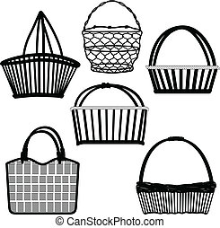 籃子, 袋子, 容器, 被給打電報, 木制
