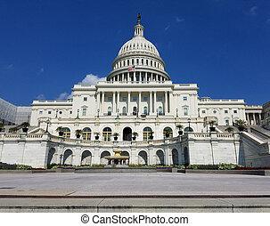 米国の 国会議事堂, 建物, 上に, 国会, 中に, washington d.c., usa.