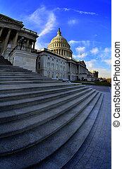 米国の 国会議事堂, 建物, 中に, washington d.c., 公共の建物
