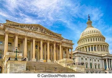 米国の 国会議事堂, 建物, washington d.c.