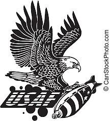米国の 空軍, -, 軍, design.