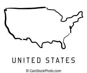 米国, 地図