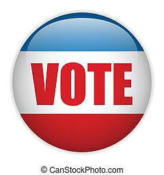 米国, 選挙, 投票, button.