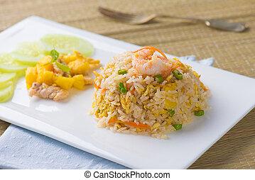 米, 中国語, pinapple, 食物, 人気が高い, 揚げられている