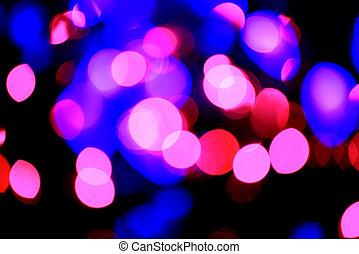 粉紅色, 以及藍色, 摘要, 光, 背景