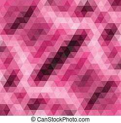 粉紅色, 圖案, 摘要, 矢量, 馬賽克