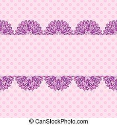 粉紅色, 圖案, 由于, 植物, 條紋