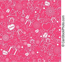 粉紅色, 圖案, 背景, seamless, 華倫泰