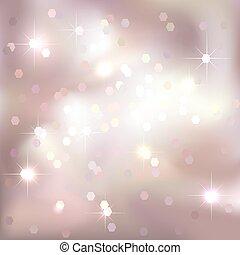 粉紅色, 宴樂的燈, 背景。, 明亮, design.