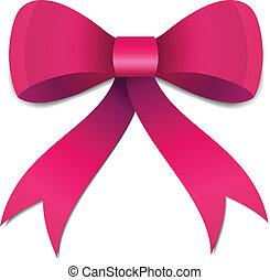 粉紅色, 弓, 插圖