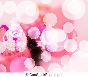 粉紅色, 復活節, 背景, bokeh