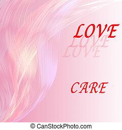 粉紅色, 愛摘要, 背景。, 有吸引力, 藝術品, 線, 措詞