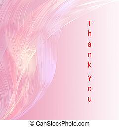 粉紅色, 感謝, 有吸引力, 背景, 線, 你, 卡片