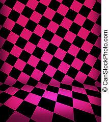 粉紅色, 房間, 國際象棋, 階段