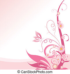 粉紅色, 植物