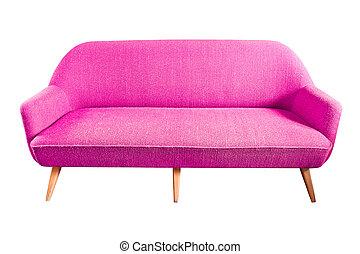 粉紅色, 沙發, 剪, 被隔离, 路徑
