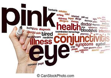 粉紅色, 眼睛, 詞, 雲