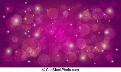 粉紅色, 矢量, 魔術, 摘要, bokeh, 光, 背景