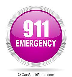 粉紅色, 网, 緊急事件, 現代, 數字, 設計, 有光澤, 環繞,  911, 圖象