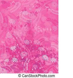 粉紅色, 自然