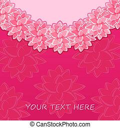 粉紅色, 葡萄酒, 幻想, 花, 輪, 卡片