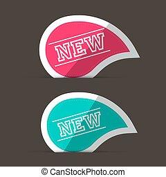 粉紅色, 藍色, stickers., labels., 新