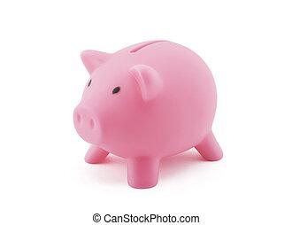 粉紅色, 路徑, 剪, 小豬, 銀行