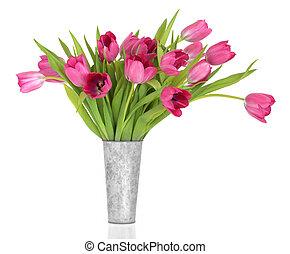 粉紅色, 郁金香, 花, 美麗