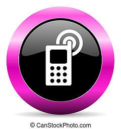 粉紅色, 電話, 有光澤, 圖象