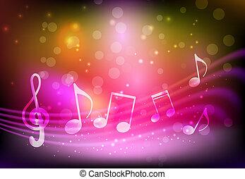 粉紅色, 音樂, 背景