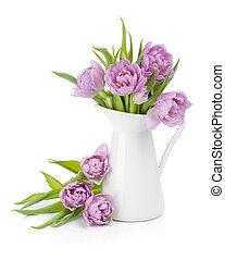 粉紅色, 鬱金香, 花束