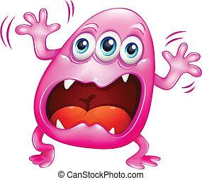 粉红色, 呼喊, because, 怪物, 挫折