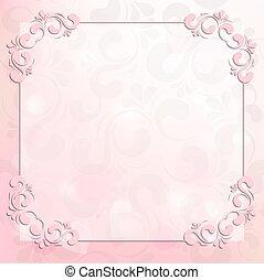 粉红色, 框架, 背景