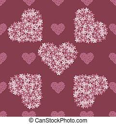 粉红色, 植物群, 心, 背景, 葡萄收获期