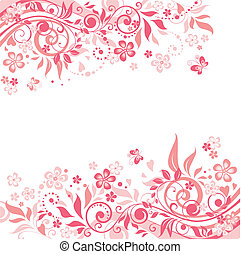 粉红色, 植物群, 背景