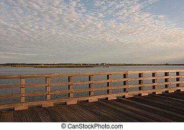 粉, ポイント, 光景, duxbury, 橋, マサチューセッツ