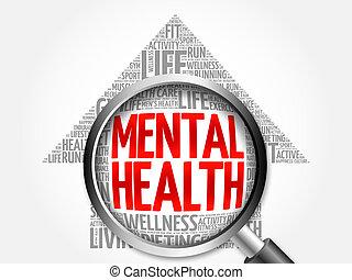 精神健康, 箭, 詞, 雲