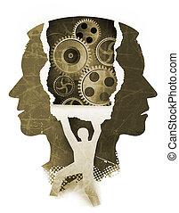 精神分裂症, 検査, concept., 精神医学