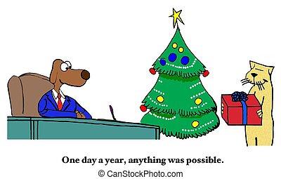精神, 寄付, クリスマス